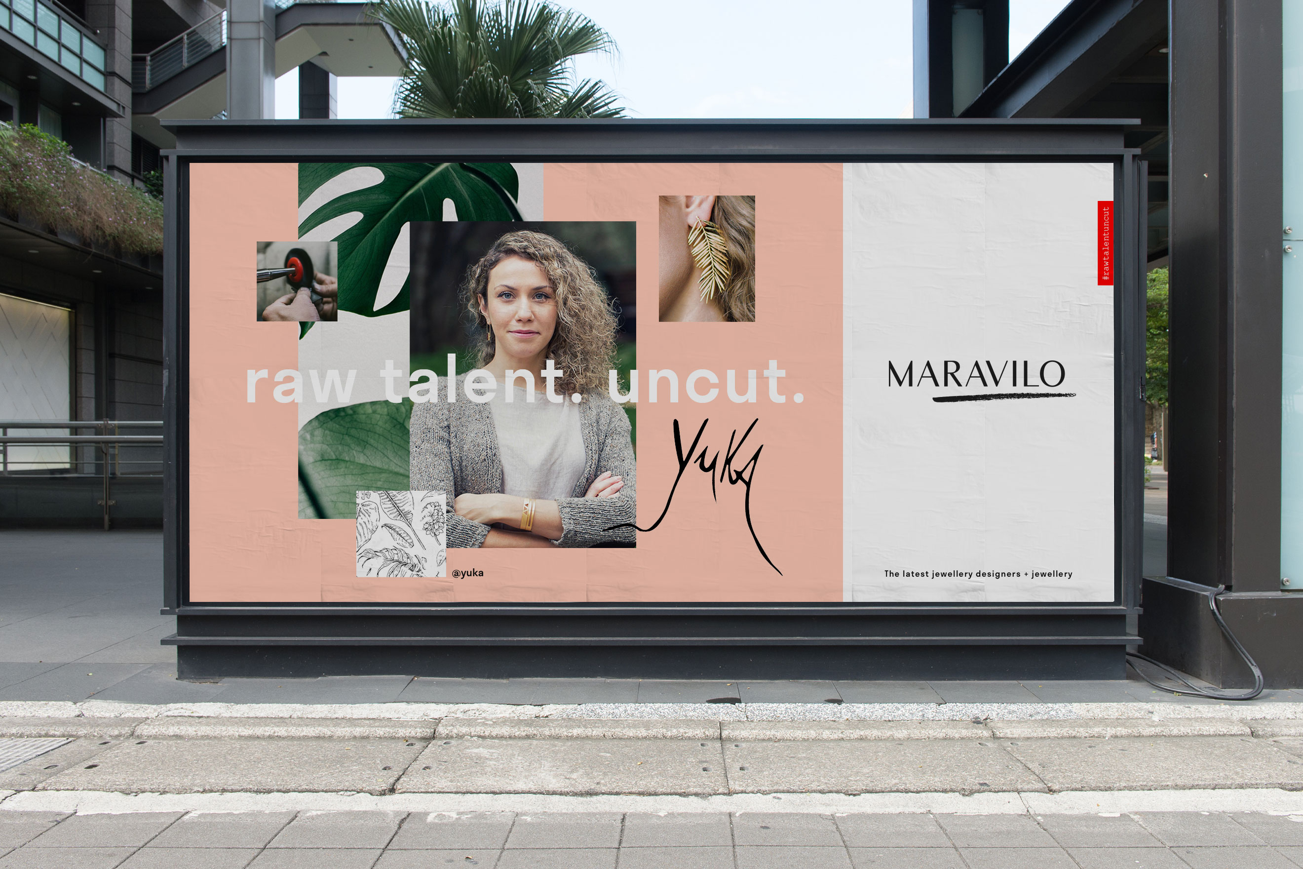 Maravilo branded poster in situ on a public street